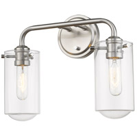 Z-Lite 471-2V-BN Delaney 2 Light 15 inch Brushed Nickel Vanity Wall Light