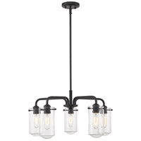 Z-Lite 471-5MB Delaney 5 Light 24 inch Matte Black Chandelier Ceiling Light photo thumbnail