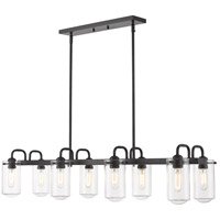 Z-Lite 471-8L-MB Delaney 8 Light 44 inch Matte Black Island Light Ceiling Light