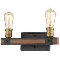 Kirkland 2 Light 14 inch Rustic Mahogany Vanity Wall Light