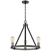 Z-Lite 472-3ABB Kirkland 3 Light 20 inch Ashen Barnboard Chandelier Ceiling Light