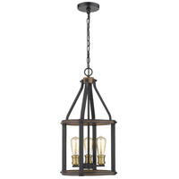 Kirkland 3 Light 12 inch Rustic Mahogany Pendant Ceiling Light