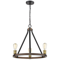 Z-Lite 472-3RM Kirkland 3 Light 20 inch Rustic Mahogany Chandelier Ceiling Light