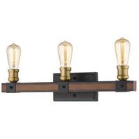 Z-Lite 472-3V-RM Kirkland 3 Light 22 inch Rustic Mahogany Vanity Wall Light