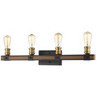 Z-Lite 472-4V-RM Kirkland 4 Light 30 inch Rustic Mahogany Vanity Wall Light