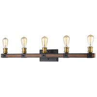 Z-Lite 472-5V-RM Kirkland 5 Light 38 inch Rustic Mahogany Vanity Wall Light