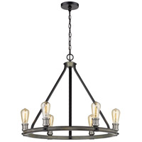 Z-Lite 472-6ABB Kirkland 6 Light 25 inch Ashen Barnboard Chandelier Ceiling Light
