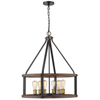 Kirkland 6 Light 25 inch Rustic Mahogany Pendant Ceiling Light