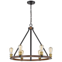 Z-Lite 472-6RM Kirkland 6 Light 25 inch Rustic Mahogany Chandelier Ceiling Light