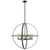 Kirkland 8 Light 32 inch Ashen Barnboard Pendant Ceiling Light