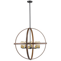Kirkland 8 Light 32 inch Rustic Mahogany Pendant Ceiling Light