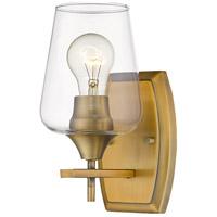 Z-Lite 473-1S-OBR Joliet 1 Light 5 inch Olde Brass Wall Sconce Wall Light