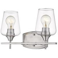Z-Lite 473-2V-BN Joliet 2 Light 15 inch Brushed Nickel Vanity Wall Light