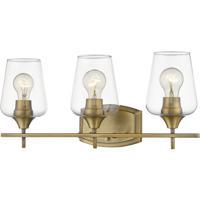 Z-Lite 473-3V-OBR Joliet 3 Light 22 inch Olde Brass Vanity Wall Light