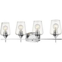Z-Lite 473-4V-CH Joliet 4 Light 30 inch Chrome Vanity Wall Light