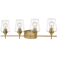 Z-Lite 473-4V-OBR Joliet 4 Light 30 inch Olde Brass Vanity Wall Light