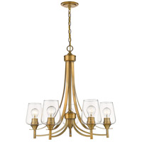 Z-Lite 473-5OBR Joliet 5 Light 25 inch Olde Brass Chandelier Ceiling Light