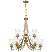 Z-Lite 473-9OBR Joliet 9 Light 31 inch Olde Brass Chandelier Ceiling Light