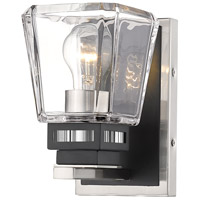 Z-Lite 474-1S-BN-MB Jackson 1 Light 5 inch Brushed Nickel and Matte Black Wall Sconce Wall Light