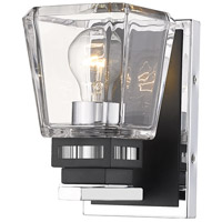 Z-Lite 474-1S-CH-MB Jackson 1 Light 5 inch Chrome and Matte Black Wall Sconce Wall Light