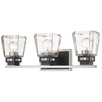 Z-Lite 474-3V-BN-MB Jackson 3 Light 24 inch Brushed Nickel and Matte Black Vanity Wall Light