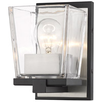 Z-Lite 475-1S-MB-BN Bleeker Street 1 Light 5 inch Matte Black and Brushed Nickel Wall Sconce Wall Light