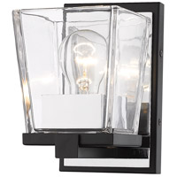 Z-Lite 475-1S-MB-CH Bleeker Street 1 Light 5 inch Matte Black and Chrome Wall Sconce Wall Light