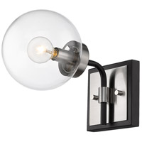 Z-Lite 477-1S-MB-BN Parsons 1 Light 6 inch Matte Black and Brushed Nickel Wall Sconce Wall Light