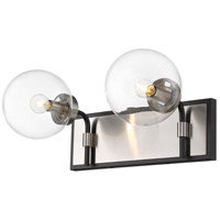 Z-Lite 477-2V-MB-BN Parsons 2 Light 16 inch Matte Black and Brushed Nickel Vanity Wall Light