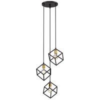 Z-Lite 478-3BRZ-OBR Vertical 3 Light 18 inch Bronze and Olde Brass Pendant Ceiling Light
