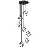 Z-Lite 478-7MB-BN Vertical 7 Light 24 inch Matte Black and Brushed Nickel Pendant Ceiling Light