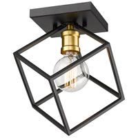 Z-Lite 478F-BRZ-OBR Vertical 1 Light 10 inch Bronze and Olde Brass Flush Mount Ceiling Light
