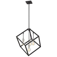 Z-Lite 478P24-MB-BN Vertical 4 Light 24 inch Matte Black and Brushed Nickel Pendant Ceiling Light