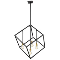 Z-Lite 478P34-BRZ-OBR Vertical 4 Light 34 inch Bronze and Olde Brass Pendant Ceiling Light