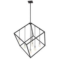 Z-Lite 478P44-MB-BN Vertical 7 Light 44 inch Matte Black and Brushed Nickel Pendant Ceiling Light