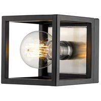 Z-Lite 480-1S-MB-BN Kube 1 Light 6 inch Matte Black and Brushed Nickel Wall Sconce Wall Light