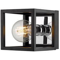 Z-Lite 480-1S-MB-CH Kube 1 Light 6 inch Matte Black and Chrome Wall Sconce Wall Light