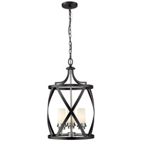Z-Lite 481P14-MB-BN Malcalester 3 Light 14 inch Matte Black and Brushed Nickel Pendant Ceiling Light photo thumbnail