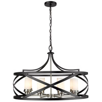 Z-Lite 481P30-MB-BN Malcalester 8 Light 30 inch Matte Black and Brushed Nickel Pendant Ceiling Light