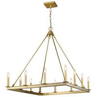 Z-Lite 482S-12OBR Barclay 12 Light 34 inch Olde Brass Chandelier Ceiling Light