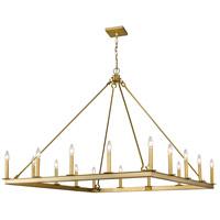 Z-Lite 482S-16OBR Barclay 16 Light 45 inch Olde Brass Chandelier Ceiling Light