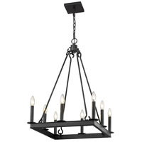 Z-Lite 482S-8-20MB Barclay 8 Light 20 inch Matte Black Chandelier Ceiling Light