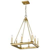 Z-Lite 482S-8-20OBR Barclay 8 Light 20 inch Olde Brass Chandelier Ceiling Light
