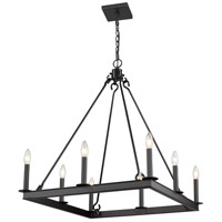 Z-Lite 482S-8-26MB Barclay 8 Light 26 inch Matte Black Chandelier Ceiling Light