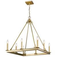 Z-Lite 482S-8-26OBR Barclay 8 Light 26 inch Olde Brass Chandelier Ceiling Light