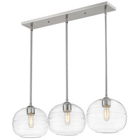 Z-Lite 486P10-3L-BN Harmony 3 Light 36 inch Brushed Nickel Island/Billiard Light Ceiling Light