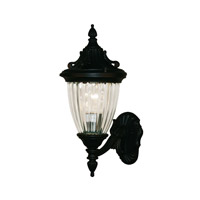 Z-Lite Waterloo 1 Light Outdoor Wall Light in Black 504M-BK