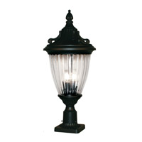 Z-Lite Waterloo 3 Light Post Light in Black 504PHB-BK-PM