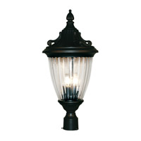 Z-Lite Waterloo 3 Light Post Light in Black 504PHB-BK