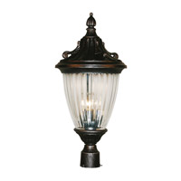 Z-Lite Waterloo 3 Light Post Light in Black Silver 504PHB-BS
